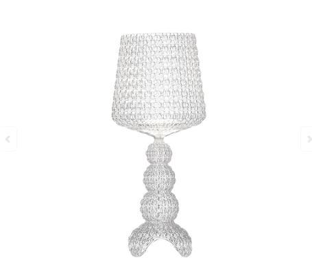 Kartell - Lampada da tavolo Mini Kabuki Crystal (Cristallo), design  Ferruccio Laviani