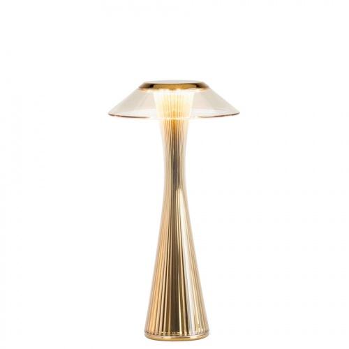 Kartell - Lampada da tavolo ricaricabile Space Gold (Oro), design Adam  Tihany
